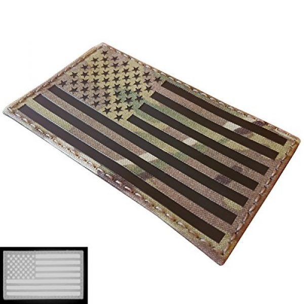 Tactical Freaky Airsoft Morale Patch 4 Big 3x5 Multicam Infrared IR USA American Flag IFF Tactical Morale Touch Fastener Patch