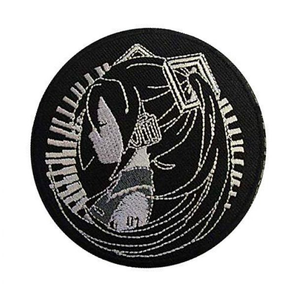 Embroidery Patch Airsoft Morale Patch 3 Hatsune Miku Patch Military Hook Loop Tactics Morale Embroidered Patch