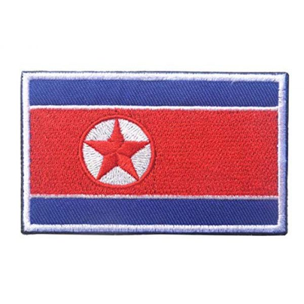 Tactical Embroidery Patch Airsoft Morale Patch 3 2pcs Korea Flag Embroidery Patch Military Tactical Morale Patch Badges Emblem Applique Hook Patches for Clothes Backpack Accessories