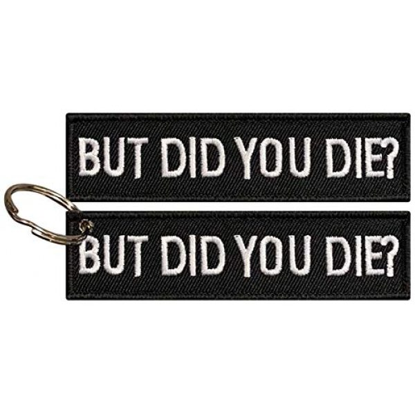 ebateck Airsoft Morale Patch 1 Ebateck Tactical Funny Patches, 2-Pack, But Did You Die Morale Patch with Keychain