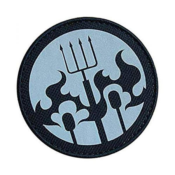 """Embroidery Patch Airsoft Morale Patch 2 SCP Foundation Special Containment Procedures Foundation SCP Mobile Task Forces Epsilon-6 Village Idiots"""" Military Hook Loop Tactics Morale Reflective Patch"""