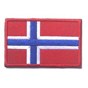 Tactical Embroidery Patch Airsoft Morale Patch 1 Norway Flag Embroidery Patch Military Tactical Morale Patch Badges Emblem Applique Hook Patches for Clothes Backpack Accessories