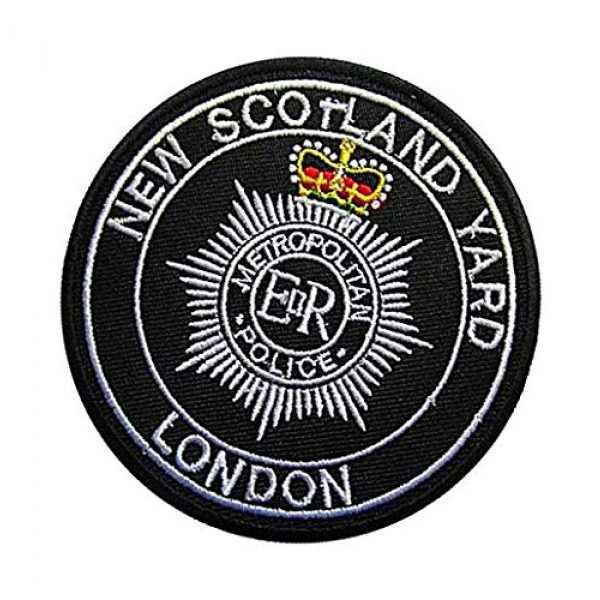 Embroidery Patch Airsoft Morale Patch 3 UK British New Scotland Yard - London Military Hook Loop Tactics Morale Embroidered Patch