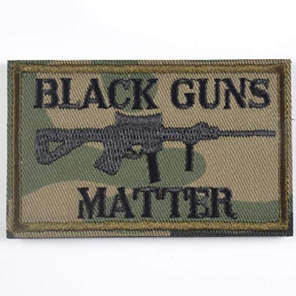 J.CARP Airsoft Morale Patch 1 Black Guns Matter - 2x3 Decorative Morale Patch (Multicam with Spice), Green
