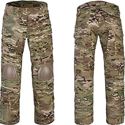 ATAIRSOFT Tactical Pant 1 ATAIRSOFT Tactical Military Emerson BDU Hunting Gen2 G2 Men Combat Pants with Knee Pads Multicam(S-30W)