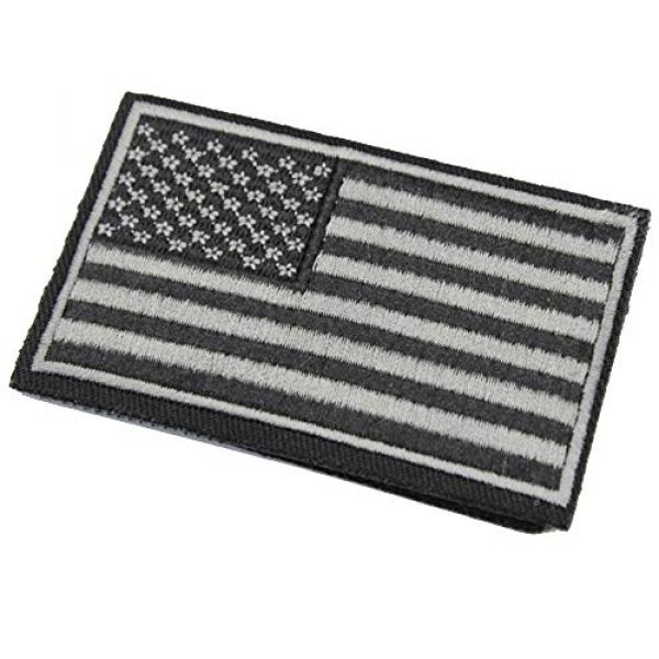 ZHDTW Airsoft Morale Patch 2 ZHDTW Tactical Morale USA Flag Embroidered Patches with Hook and Loop (DT-033)