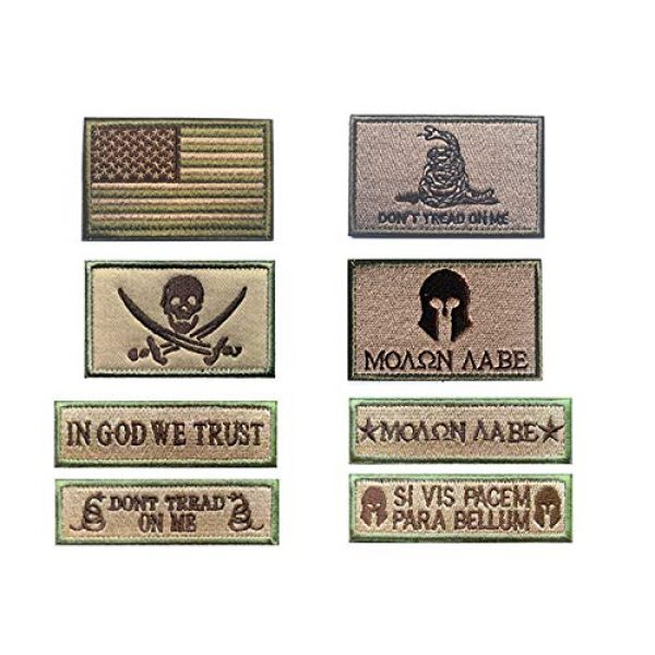 Antrix Airsoft Morale Patch 1 Antrix Tawny Military Tactical Badge Emblem Patch US Flag Molon Labe Dont Tread On Me in God We Trust Patches Set