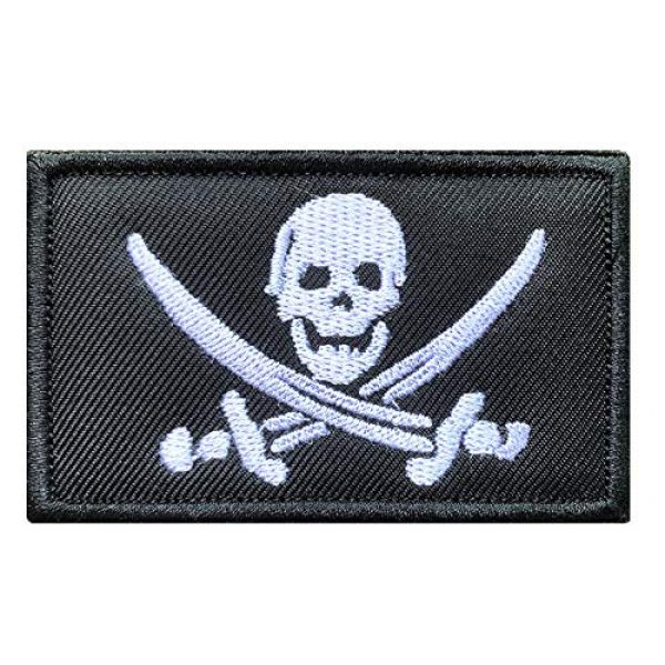 Antrix Airsoft Morale Patch 1 Antrix Pirate Jolly Roger Military Emblem Badge Patch Hook & Loop Pirate Flag Tactical Patch