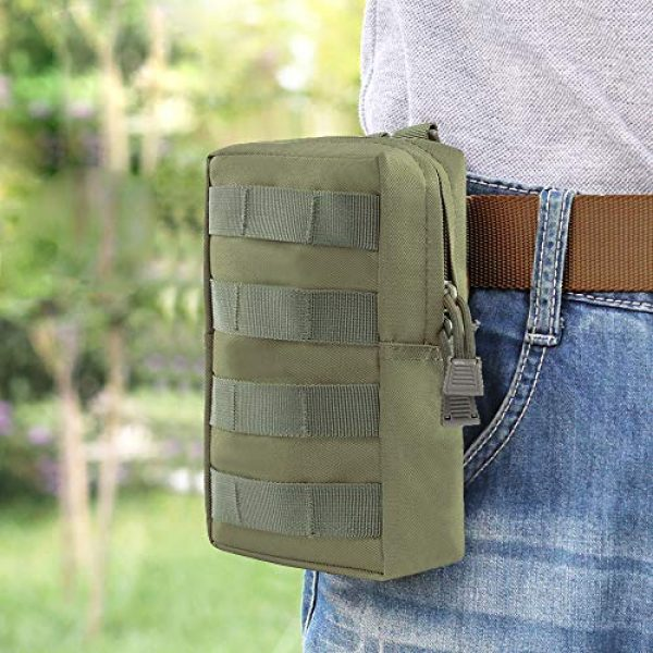 Aoutacc Tactical Pouch 5 2 Pack Tactical Modular Molle Pouches, Compact Small Utility Pouch EDC Waist Bag Pouch