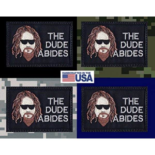 Tactical Patch Works Airsoft Morale Patch 3 Big Lebowski The Dude Abides Patch