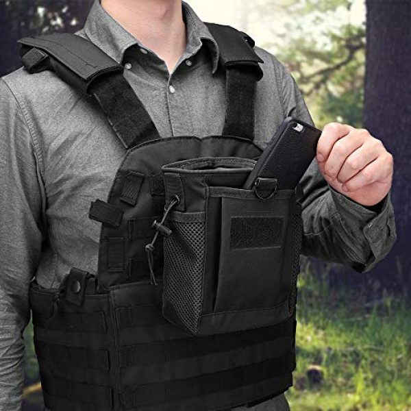 AMYIPO Tactical Pouch 7 AMYIPO Tactical Hip Holster Bag Outdoor Pouch Molle Drawstring Magazine Dump Pouch, Military Adjustable Belt Utility Pouch