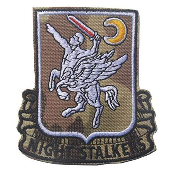 Embroidered Patch Airsoft Morale Patch 1 160th Special Operations Aviation Regiment SOAR 3D Tactical Patch Military Embroidered Morale Tags Badge Embroidered Patch DIY Applique Shoulder Patch Embroidery Gift Patch