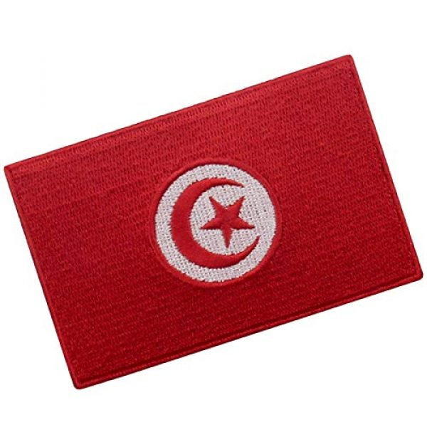 EmbTao Airsoft Morale Patch 3 EmbTao Tunisia Flag Patch Embroidered National Morale Applique Iron On Sew On Tunisian Emblem