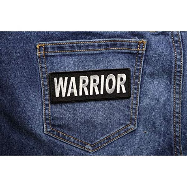 Ivamis Trading Airsoft Morale Patch 4 Warrior Patch - 4x1.5 inch. Embroidered Iron on Patch