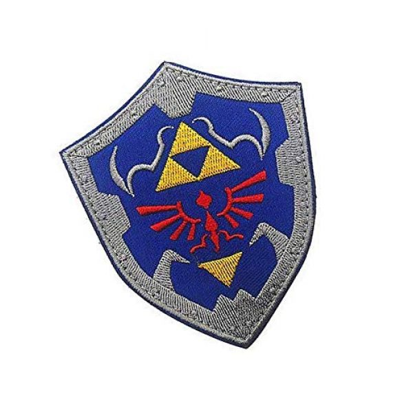 Embroidery Patch Airsoft Morale Patch 2 The Legend of Zelda Link Shield Military Hook Loop Tactics Morale Embroidered Patch