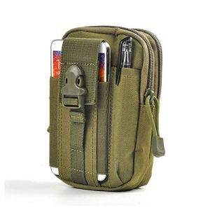 Carole4 Tactical Pouch 1 Waist Case Bag, Sporting D30 Molle Waterproof Outdoor Sport Waist Pack Coin Purse for Mobile Nylon Waist Bag Army Military EDC Small Bag