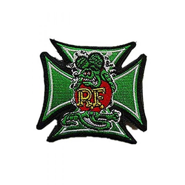 Embroidery Patch Airsoft Morale Patch 1 Rat Fink Military Hook Loop Tactics Morale Embroidered Patch