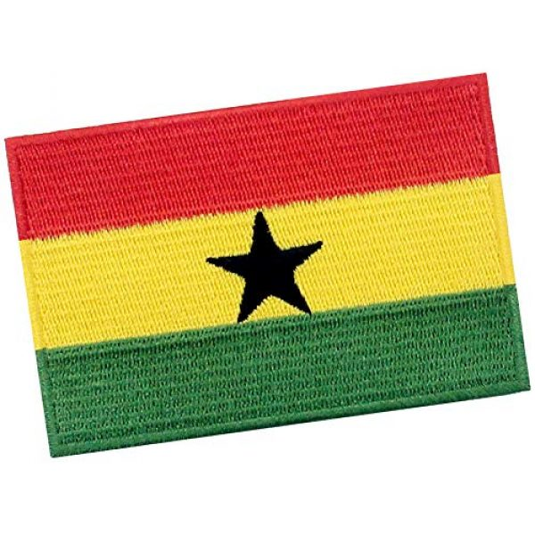 EmbTao Airsoft Morale Patch 3 EmbTao Ghana Flag Patch Embroidered National Morale Applique Iron On Sew On Ghanaian Emblem
