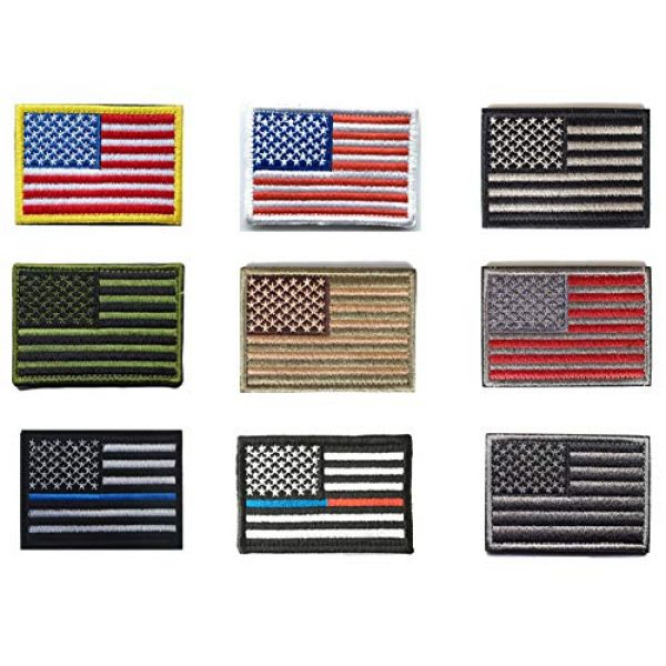 Tvoip Airsoft Morale Patch 1 Tvoip 9Pcs New American Flag Tactical Morale Patches US Army Badge Armband Patch Jeans Backpack Jacket