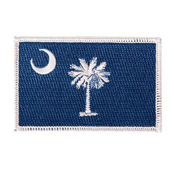 Desert Cactus Airsoft Morale Patch 1 South Carolina Flag Patch 3.5 inch x 2.25 inch Iron On Sew Embroidered Tactical Backpack Hat Bags (Single Patch)