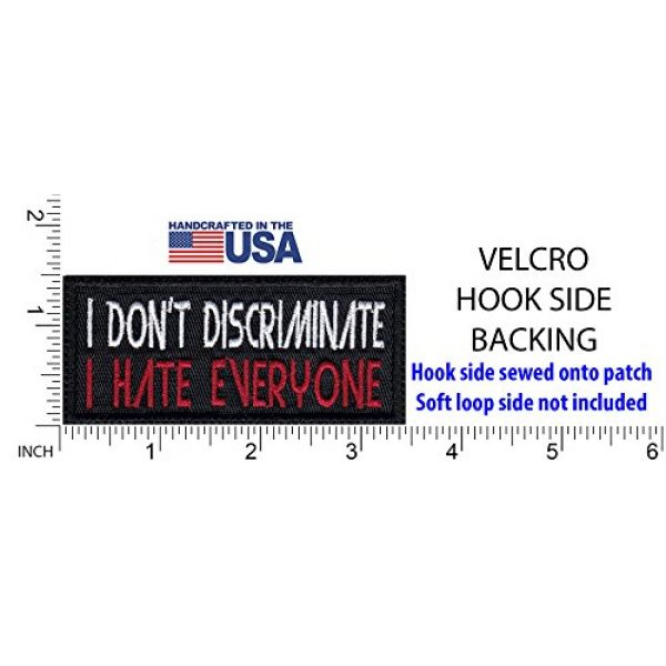 Tactical Patch Works Airsoft Morale Patch 2 I Don'T Discriminate I Hate Everyone Funny Biker Motorcycle Patch