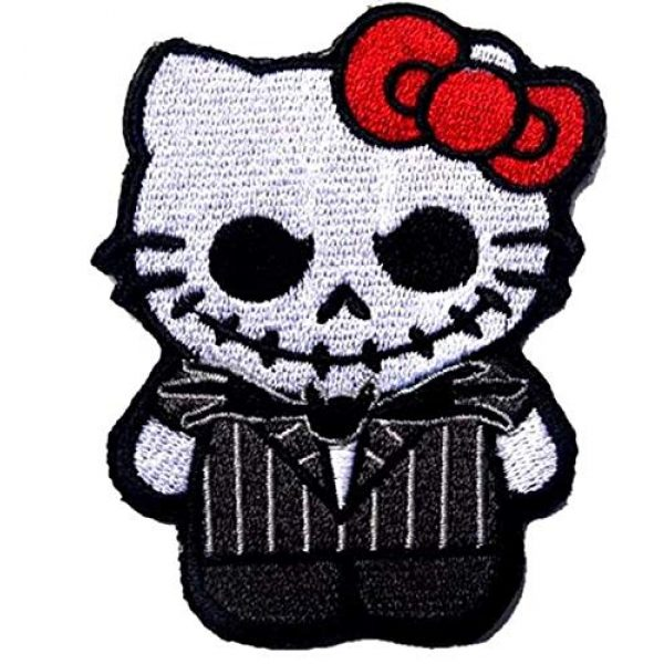 Embroidered Patch Airsoft Morale Patch 1 Jack Nightmare Before Christmas Hello Kitty 3D Tactical Patch Military Embroidered Morale Tags Badge Embroidered Patch DIY Applique Shoulder Patch Embroidery Gift Patch