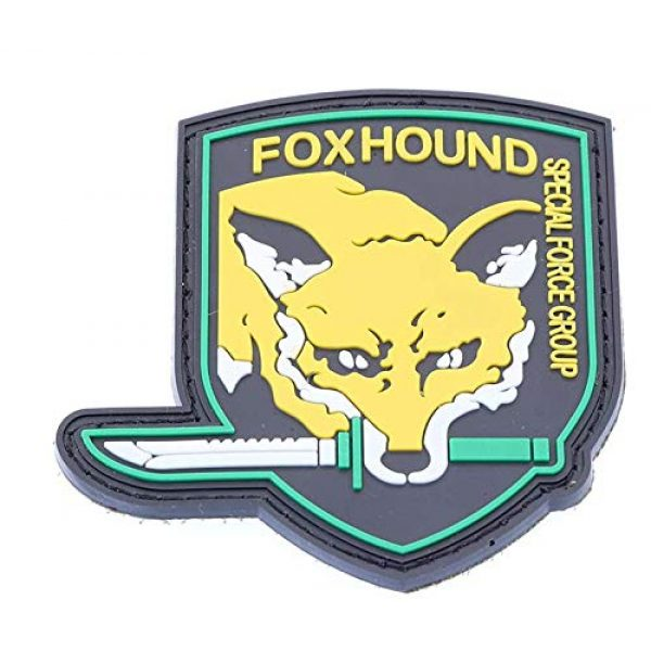 Tactical PVC Patch Airsoft Morale Patch 2 Metal Gear Solid MGS Fox Hound Special Force Group PVC Military Tactical Morale Patch Badges Emblem Applique Hook Patches for Clothes Backpack Accessories