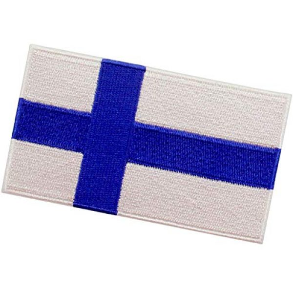 EmbTao Airsoft Morale Patch 4 EmbTao Finland Flag Patch Embroidered National Morale Applique Iron On Sew On Finnish Emblem