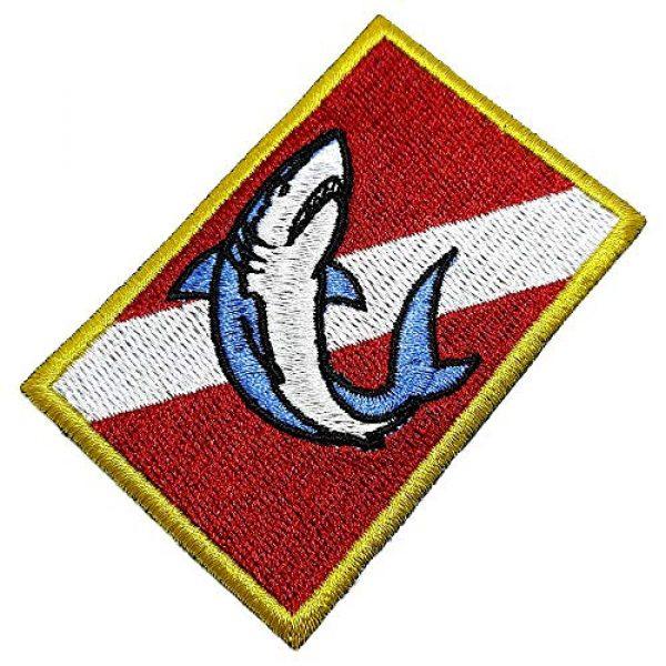 BR44 Airsoft Morale Patch 1 BD0176T 01 Scuba Shark Diver Flag Embroidered Patch Morale Tactical Shoulder Emblem Iron or Sew