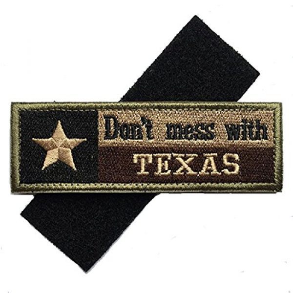 Homiego Airsoft Morale Patch 7 Homiego Texas State Flag Military Tactical Morale Desert Badge Hook & Loop Embroidery Patch for Hat Backpack Jacket (Texas State Flag - D)