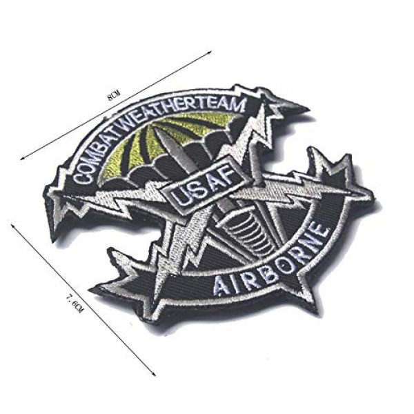 Zhikang68 Airsoft Morale Patch 5 US Air Force Patch USAF Emblem United States Paratrooper Tactical America Military Embroidered Morale Badges Applique for Coat Jacket Gear Cap Hat Backpack (Set 9)