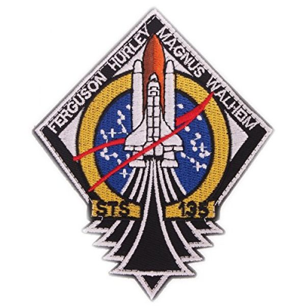 VOZUKO Airsoft Morale Patch 6 VOZUKO Morale Patch USA NASA Astronaut Space 3D Embroidered Flight Space Explorer Research Combination Badge Patch