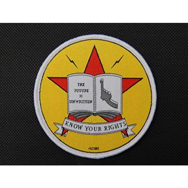 BritKitUSA Airsoft Morale Patch 1 BritKitUSA The Clash Know Your Rights Morale Patch Hook & Loop Backing