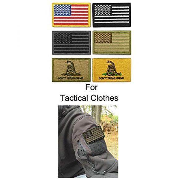 WZT Airsoft Morale Patch 3 WZT Bundle 6 Pieces American Flag Tactical Morale Military Patch Set