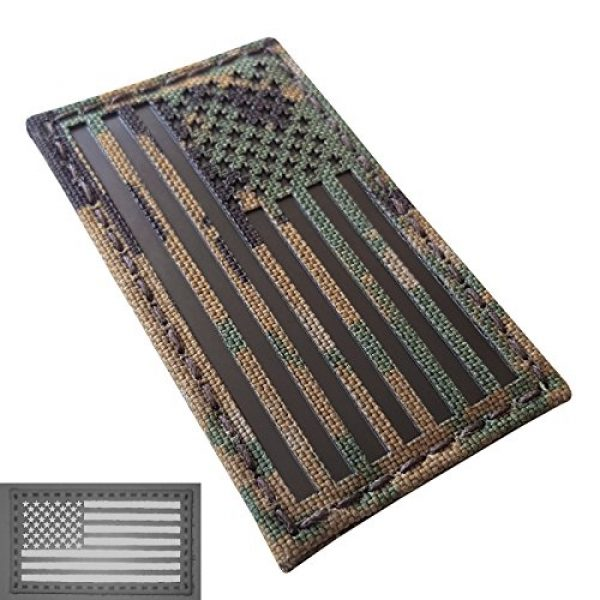 Tactical Freaky Airsoft Morale Patch 3 MARPAT Digital Woodland Infrared IR USA American Flag 3.5x2 IFF Tactical Morale Fastener Patch