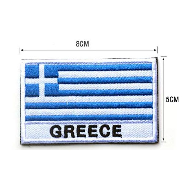 Tactical Embroidery Patch Airsoft Morale Patch 2 2pcs Greece Flag Embroidery Patch Military Tactical Morale Patch Badges Emblem Applique Hook Patches for Clothes Backpack Accessories