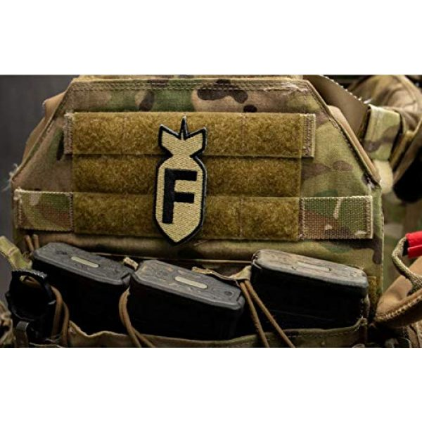 BASTION Airsoft Morale Patch 5 BASTION Morale Patches (F Bomb, ACU)   3D Embroidered Patches with Hook & Loop Fastener Backing   Well-Made Clean Stitching   Military Patches Ideal for Tactical Bag, Hats & Vest