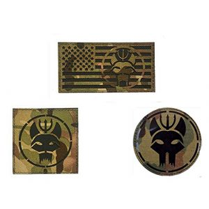 Embroidery Patch Airsoft Morale Patch 1 3 Pieces US Seal Team DEVGRU Military Hook Loop Tactics Morale Reflective IR Patch (color4)