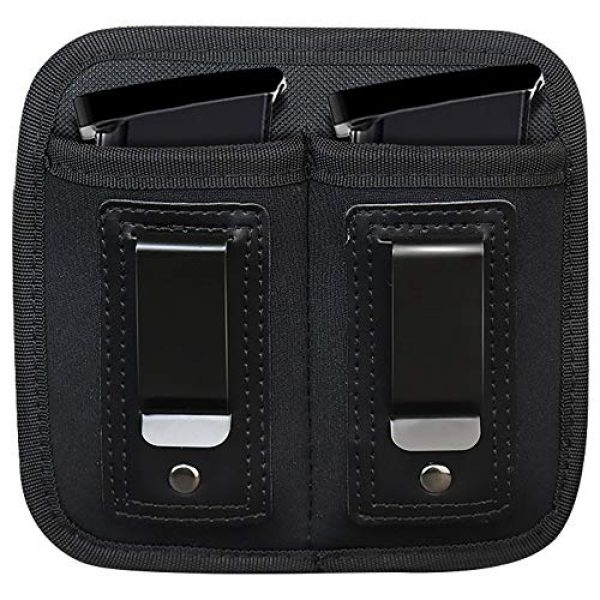 ACEXIER Tactical Pouch 1 ACEXIER Universal Double Magazine Pouch for 9mm .40 .45 .380 .357, IWB Mag Holster Concealed Cary for Double Stack, Mag Holder for Glock 19 43 17 1911 S&W M&P, IWB Clip Magazine Pouch IWB Pistol Ammo