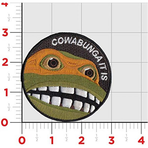 CowaBunga Airsoft Morale Patch 2 Cowabunga It is Embroidered Hook-Backed Morale Patch, Embroidered Patch Sew on Appliques Decorate Badge Hook-Backed Morale Patches Emblem DIY Accessories 3 Inch