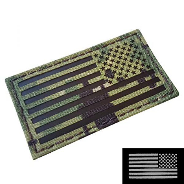 Tactical Freaky Airsoft Morale Patch 1 AOR2 IR USA American Reversed Flag 2x3.5 NWU Type III Navy Seals DEVGRU Stars and Stripes Morale Touch Fastener Patch
