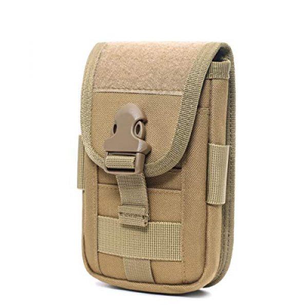 Azarxis Tactical Pouch 3 Azarxis Tactical Cell Phone Holster Pouch, Tactical Smartphone Pouches EDC Cellphone Case Molle Gadget Bag Molle Attachment Belt Card Holder Waist Bag