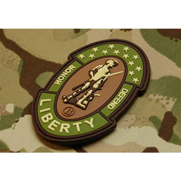 BritKitUSA Airsoft Morale Patch 2 BritKitUSA 3D PVC Multicam Minuteman Morale Patch American Patriot 2A 1776 Infidel Hook