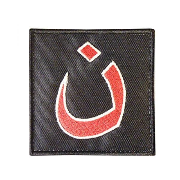 LEGEEON Airsoft Morale Patch 2 LEGEEON Glow Dark Christians in Iraq Support ISAF Morale Army Sew Iron on Patch
