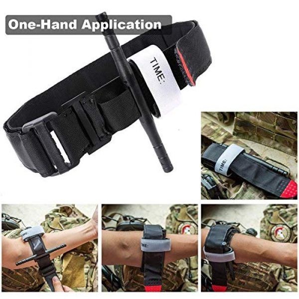 ActionUnion Tactical Pouch 3 Medical Tourniquet with TQ Holder Pouch Case Set for Belt Attachment First Aid Tactical Bandage Medic Swat Pre-Hospital Life Saving Hemorrhage Control Registration Card