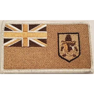 Fast Service Designs Airsoft Morale Patch 1 Bermuda Flag Embroidered Patch with Hook & Loop Morale Travel Emblem White Border #3