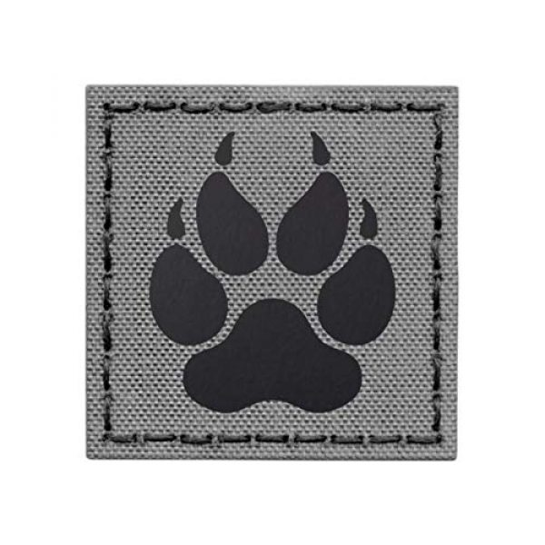 Tactical Freaky Airsoft Morale Patch 1 IR K9 Dog Handler Paw K-9 2x2 Wolf Gray Tactical Morale Fastener Patch