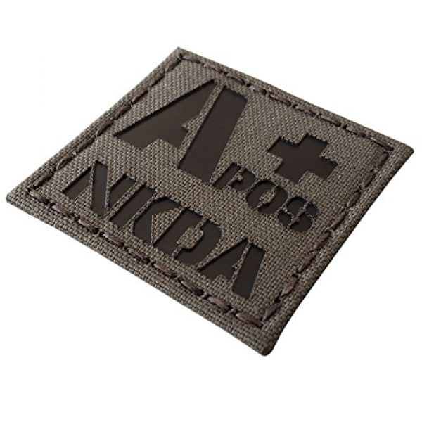 Tactical Freaky Airsoft Morale Patch 1 Ranger Green Infrared IR APOS NKDA A+ Blood Type 2x2 Tactical Morale Fastener Patch