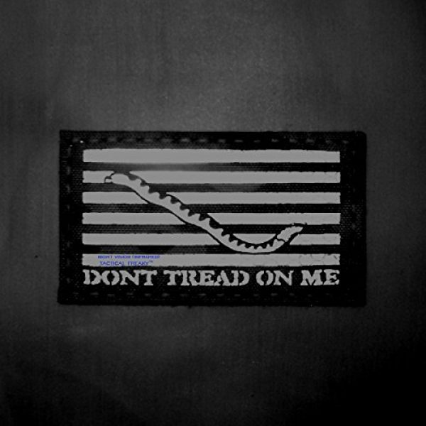 Tactical Freaky Airsoft Morale Patch 2 Multicam Infrared IR US First Navy Jack Dont Tread On Me DTOM Flag 3.5x2 Tactical Morale Hook&Loop Patch
