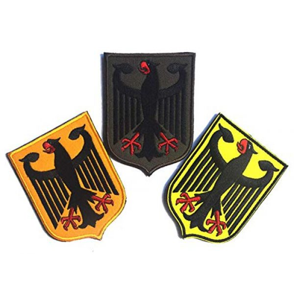 Embroidered Patch Airsoft Morale Patch 1 3pc Germany Coat of Arms Patch German Eagle Shield 3D Tactical Patch Military Embroidered Morale Tags Badge Embroidered Patch DIY Applique Shoulder Patch Embroidery Gift Patch